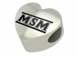 Mount St. Mary's Mountaineers Heart Shape Bead