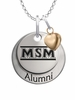 Mount St. Marys Mountaineers Alumni Necklace with Heart Accent
