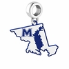 Mount St. Marys Mountaineers Logo Dangle Charm