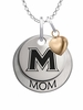Mount St. Marys Mountaineers MOM Necklace with Heart Charm