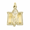 Murray State Racers 14K Yellow Gold Natural Finish Cut Out Logo Charm