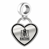 Murray State Racers Border Heart Dangle Charm