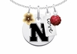 Nebraska Cornhuskers Cluster Necklace