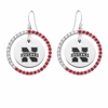 Nebraska Cornhuskers Color CZ Circle Earrings