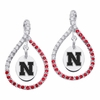 Nebraska Cornhuskers Colored CZ Figure 8 Earrings