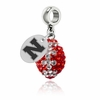 Nebraska Cornhuskers  Football Dangle Charm