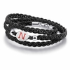 Nebraska Cornhuskers Leather Wrap Bracelet