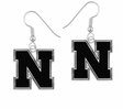 Nebraska Cornhuskers Logo Drop Earrings
