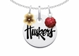 Nebraska Cornhuskers Necklace with Flower Charm