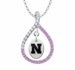 Nebraska Cornhuskers Pink CZ Figure 8 Necklace