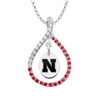 Nebraska Cornhuskers Red CZ Figure 8 Necklace