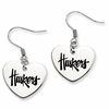 Nebraska Cornhuskers Heart Earrings