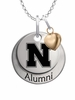 Nebraska Huskers Alumni Necklace with Heart Accent