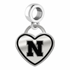 Nebraska Huskers Border Heart Dangle Charm