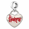 Nebraska Huskers Color Heart Dangle
