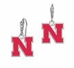 Nebraska Huskers CZ Logo Earrings