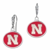 Nebraska Huskers Enamel CZ Cluster Earrings