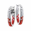 Nebraska Huskers Hoop Earrings