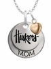Nebraska Huskers MOM Necklace with Heart Charm