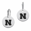 Nebraska Huskers Round CZ Cluster Earrings