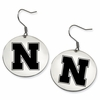 Nebraska Huskers Satin Finished Disc Earrings