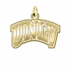 Nevada Las Vegas Rebels 14K Yellow Gold Natural Finish Cut Out Logo Charm