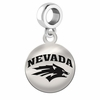 Nevada Reno Wolf Pack Round Dangle Charm
