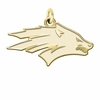 Nevada Wolf Pack 14K Yellow Gold Natural Finish Cut Out Logo Charm