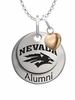 Nevada Wolf Pack Alumni Necklace with Heart Accent