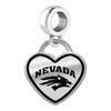 Nevada Wolf Pack Border Heart Dangle Charm