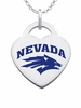 Nevada Wolf Pack Color Logo Heart Charm