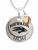 Nevada Wolf Pack MOM Necklace with Heart Charm