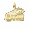 New Hampshire Wildcats 14K Yellow Gold Natural Finish Cut Out Logo Charm