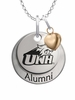 New Hampshire Wildcats Alumni Necklace with Heart Accent