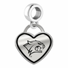 New Hampshire Wildcats Border Heart Dangle Charm