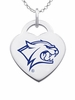 New Hampshire Wildcats Color Logo Heart Charm
