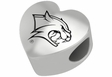 New Hampshire Wildcats Heart Shape Bead