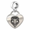 New Mexico Engraved Heart Dangle Charm