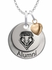 New Mexico Lobos Alumni Necklace with Heart Accent
