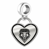 New Mexico Lobos Border Heart Dangle Charm