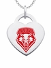 New Mexico Lobos Color Logo Heart Charm