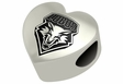 New Mexico Lobos Heart Shape Bead