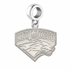 New Mexico Lobos Natural Finish Dangle Charm