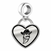 New Mexico State Aggies Border Heart Dangle Charm