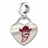 New Mexico State Aggies Color Heart Dangle