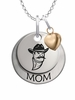 New Mexico State Aggies MOM Necklace with Heart Charm