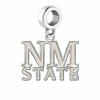 New Mexico State Aggies Natural Finish Dangle Charm