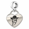 New Mexico State Engraved Heart Dangle Charm