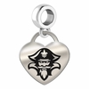 New Orleans Engraved Heart Dangle Charm