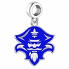 New Orleans Privateers Silver Logo and School Color Drop Charm